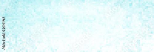 Fototapeta Pale turquoise pixel background. Subtle vector pattern obraz