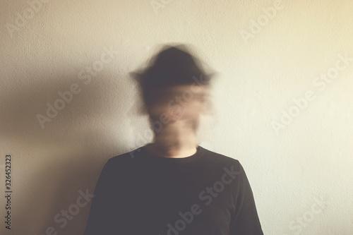 blurred man portrait, surreal identity concept Wallpaper Mural