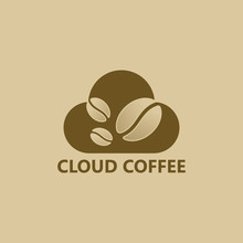 Cloud Coffee Logo Template Design