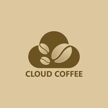 Cloud Coffee Logo Template Des...