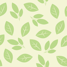 A Seamless Pattern With Green ...