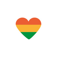 Irish Flag Heart Shaped, Flat ...