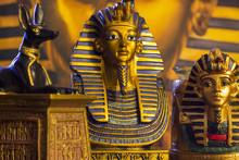 Statues Of Tutankhamun And Mythology Jackal Inpu 2