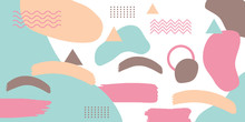 Peach Yellow Brown Tosca Brush Pattern Memphis Background