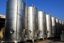 Steel Tanks In Winery