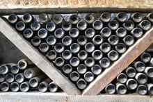Wine Bottles In Wooden Rack