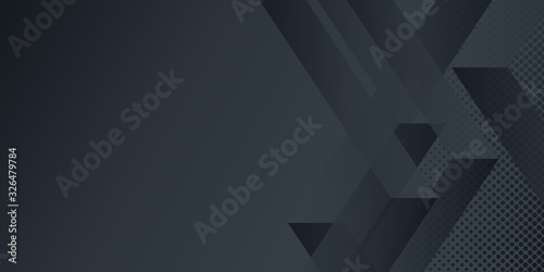 Fototapeta Modern black absract arrow background obraz