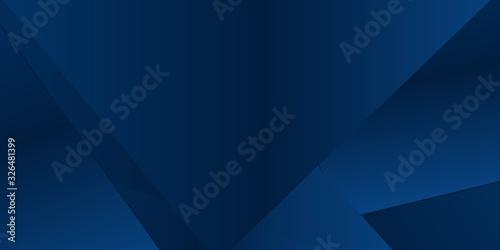 Fototapeta Blue triangle abstract presentation background. obraz na płótnie