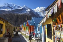 Row Of Nepal Village Cottages ...