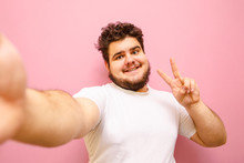 Funny Fat Man In White T-shirt...