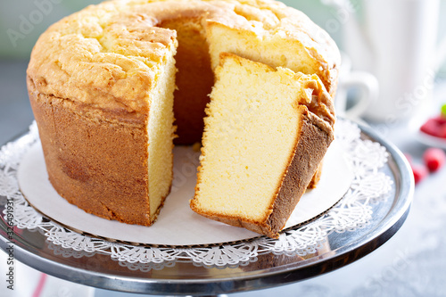 Photo Pound cake slice
