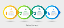 Infographics Design Template, Business Concept With 4 Steps.