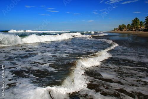 Photo Puerto Arista. The coast of the pacific ocean. Mexico