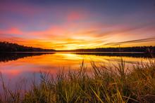 Sunset Cloudscape At Davis Lak...