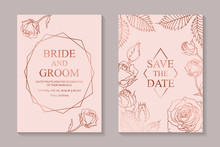 Set Of Luxury Floral Wedding I...