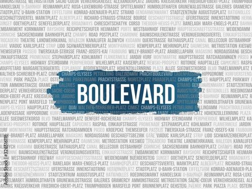 Boulevard Fototapete