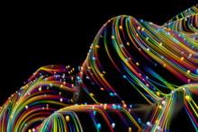 Neon Glowing Twisted Cosmic Li...