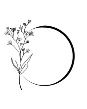 Vector Of A Round Floral Logo ...
