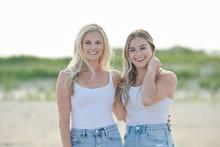 Two Beautiful Young Female Fri...