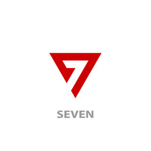 Triangle Seven Logo, Number 7 ...