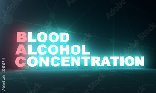 Photo BAC - Blood alcohol concentration acronym