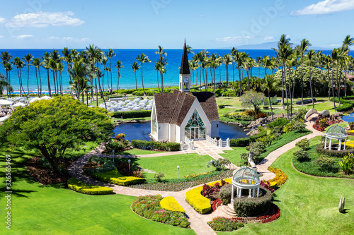 Fotomural Garden Chapel in Maui Hawaii