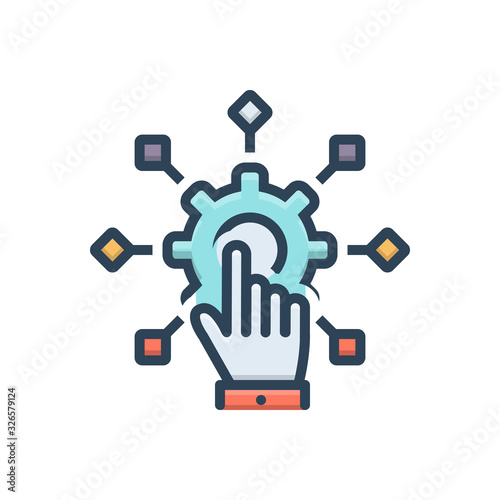 Color illustration icon for adapt Wallpaper Mural