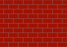 Background Vector Image Of A Brown Brick Wall. Place For Text.
