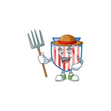 Sweet Farmer USA Stripes Shiel...