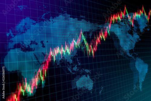 Fotografía 世界経済・株価上昇のイメージグラフィック
