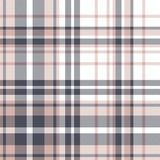 Plaid pattern seamless vector graphic. Blue pink white tartan check plaid for flannel shirt, duvet cover, blanket, or other modern spring and summer textile design. Striped texture. - 326590192