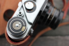 Closeup Of Old Vintage Camera ...
