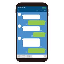 Chat App Vector Illustration Smartphone