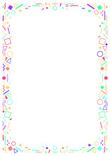 Decorative, Colored Frame And ...