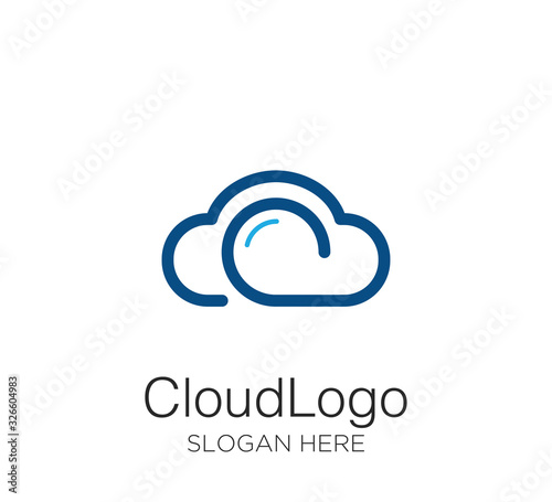 cloud logo vector design template
