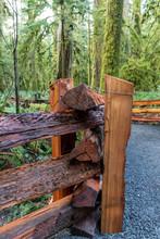 Cedar Split Rail Fence Detail ...