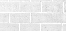 Blur Of Abstract White Brick W...