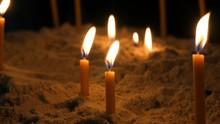 Long Thin Yellow Church Candle...