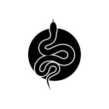 Snake Icon Isolated On White Background
