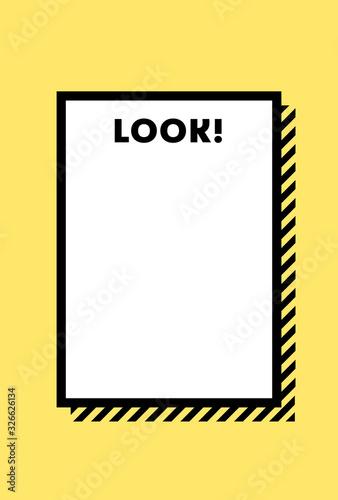 Fotografering メモ・警告・危険・防災イメージ素材:黄色と黒のシンプルな注意喚起用の背景素材(縦長)