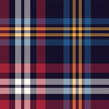 Tartan plaid pattern vector. Seamless multicolored dark check plaid graphic in blue, red, yellow, and off white for flannel shirt, blanket, throw, upholstery, duvet cover, or other textile design. - 326633118