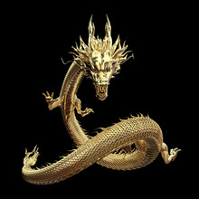 Full Body Gold Dragon In Smart...