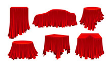 Objects Covered With Red Silk ...