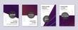 Modern brochure design template set. Violet abstra