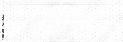 Fototapeta panorama white brick walls that are not plastered background and texture. The texture of the brick is white. Background of empty brick basement wall. obraz na płótnie