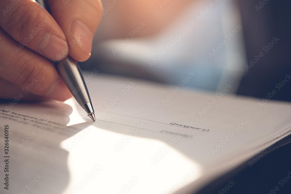 Fototapeta Signing contract
