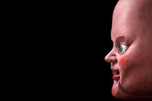 Creepy Doll Head In The Dark