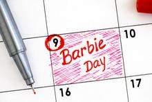 Reminder Barbie Day In Calenda...