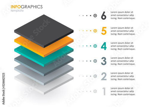 Vector infographic template Canvas Print