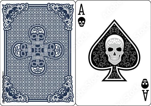 Obraz na plátně ace of spades with skull
